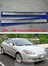 For 2003-2008 HYUNDAI TIBURON COUPE TUSCANI METAL SIDE DOOR SILL SCUFF STEP