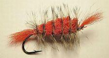 Bomber Orange - Grizzly Hackle- Orange tail #6 Salmon hook