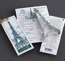 EIFFEL TOWER ~ FLEUR DE LIS ~ tin cookie cutter DUO ~ MADE IN THE USA