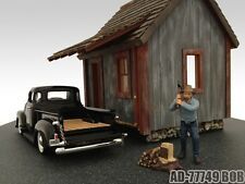 LOGGER BOB FIGURE FOR 1:24 SCALE DIECAST MODEL CARS BY AMERICAN DIORAMA 77749
