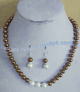 """Long 14-24"""" 8-10mm Multicolor South Sea Shell Pearl Round Beads Necklace Earring"""