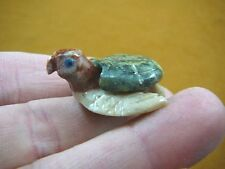 (Y-TUR-SE-119) SEA TURTLE baby GREEN SERPENTINE carving I love little turtles