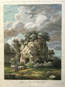 1796 Large Master Etching, Picturesque Views of Italy, C. Reinhart, Pastoral