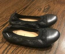 Geox Girls Metallic Gray Cap Toe Flats Size EUR 33 US 2