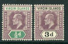 British Virgin Islands 1904 selection of 2 SG 64,58 MM