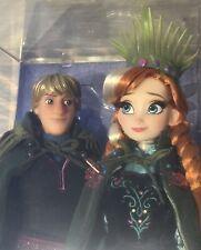 Disney Designer Fairytale Frozen Fever Anna & Kristoff doll giftset NRFB LE 6000