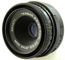 CARL ZEISS JENA TESSAR 50mm f2.8 primer lente M42 tornillo de ajuste MF Bokeh 241471