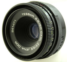 CARL ZEISS JENA TESSAR 50mm f2.8 Prime lens M42 screw fit mf bokeh 241471