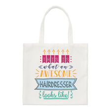 This Is What An Awesome Hairdresser Looks Like Small Tote Bag - Funny Best