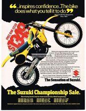 1983 Suzuki RM-125D Motorcycle enduro Moto Cross Dirt Bike Vtg Print Ad