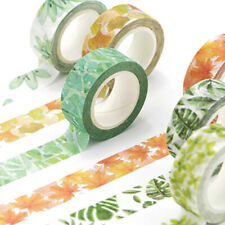 1 Roll Floral Washi Tape Adhesive Stickers Stationery Diary Crafts Decor Diy