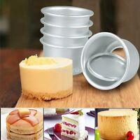 5 Stück Kuchenform Backform Springform Set Rund Antihaft Baking Kuchenbackform