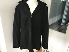 Women's London Fog Hooded Coat XL Black