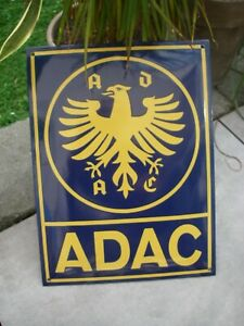 ADAC EMAILSCHILD Schild Emaille Emailleschild wall sign Automobile Club 40 x 30
