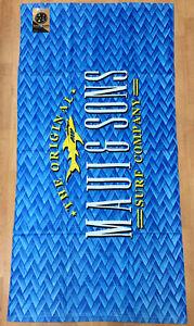 "Maui and Sons Surf Company 60"" × 30"" Bamboo Shark Beach Towel"