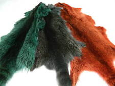 TANNED ORANGE RACCOON FUR SKIN PELT DYED DESIGN WITH TAIL