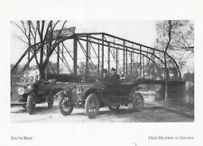 "*Indiana Postcard-""S. Bend-Early Automobile Near Metal Truss Bridge"" (A25-1)"