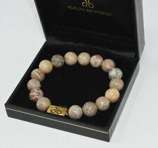 Aurum Brothers Bracelet 12mm Mixed Stone Gold Plated EUC---B5