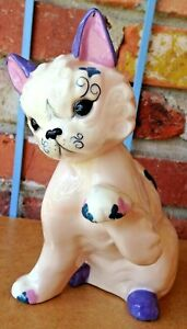 Vintage Kay Finch Cat Mehitabel In Pretty Pastel Colorations!