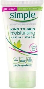 Simple Kind To Skin Moisturising Facial Face Wash Gel - Travel Size - 50ml