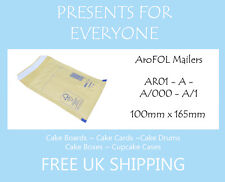 100 x AroFOL Gold Brown AR01 JL000 Bubble Lined Padded Mailing Envelopes Bags
