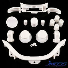 XBOX 360 CUSTOM Abxy Guide Thumbsticks RT LT RB LB Sync PARAURTI MOD KIT (Bianco)