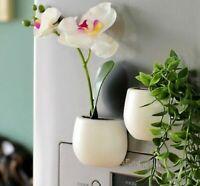 Artificial Green succulent plants Bonsai set fake Flower magnatic vase
