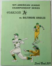 1971 ALCS Oakland Athletics vs. Baltimore Orioles Program Robinson Powell Palmer