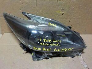 PLUG IN - BLACK PASSENGER RH LED OEM TOYOTA PRIUS 12-15 HEADLIGHT [JA21815 READ]