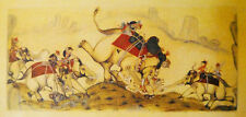 Tiger hunt frob Sawar, Ajmer Miniature Paintings Poster of Rajasthan