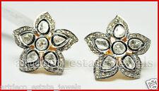 Look Wedding 925 Silver Studs/Earring 2.14ct Rose/Antique Cut Diamond Victorian