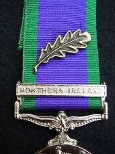 British UK Forces Military CSM Northern Ireland Medal Ribbon Bronze MID Oak Leaf