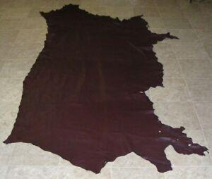 (GCE8993-3) Side of Dark Purple Cow Leather Hide Skin