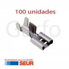 100X Terminal Faston 6,3 - 6.3 mm Hembra