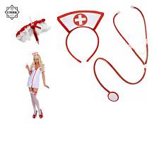 SEXY NURSE KIT DOCTOR ADULT Fancy Dress Dressing Up Set Steth Hen Do ZTM94006 UK
