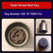"Genuine Saab locking wheel bolt / nut key FER 1710 105 ""E"""