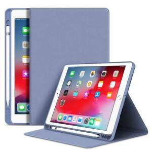 Fr iPad 6th 7th 8th 10.2 9.7 Air 10.9 4th Mini Leather Stand Pen Slot Case Cover