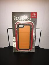 New Pelican ProGear iPhone 6 6S Orange Gray Protector Series Cover Case