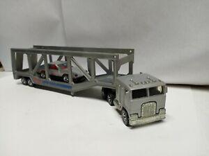 1982 Hot wheels Truck Co. Kenworth Auto Hauler Gray Omni BW