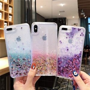 Liquid Glitter Case For iPhone 12 11 Pro Max 6S Bling Quicksand Shockproof Cover