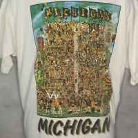 Vintage University Michigan Wolverines T Shirt SZ XXL USA Made Football Fans