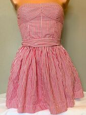 Abercrombie & Fitch Junior Womens Teen Girls Pink White Striped Small Dress
