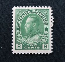 1922 Canada stamp #107 King George V Admiral issue 2c Mint NG CV$45