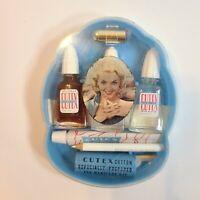 Vintage Cutex Manicure Set Kit w/Lipstick Nail Polish 50s