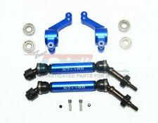 GPM Racing Traxxas Slash Rustler 4X4 Blue Rear CVD W/ Knuckle Set SSLA1277RH22-B
