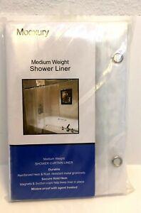 "Mooxury Mildew Resistant Shower Liner Medium Weight Bathroom Curtains 72"" x 72"""