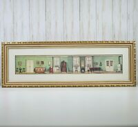 Vintage Bombay Company Green Picture Framed Art Farmhouse Style Furniture Euc