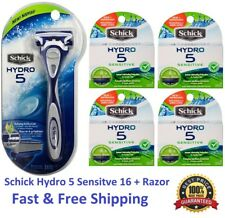 17 Schick Hydro 5 Sensitive Razor Blades fit Power Shaver Refills Cartridges 4 8