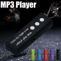 Portable USB Clip Digital Mp3 Music Player Support 16GB SD TF Card 6 Colors