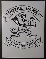 "Notre Dame Fighting Fightin Irish 8.5"" x 11"" Stencil FAST FREE SHIPPING"